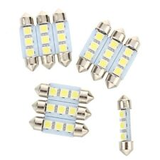 10X 36MM Lamp Bulb 3 LED 5050 SMD White For Car Dome Festoon G2O6