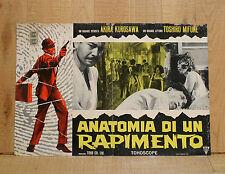 ANATOMIA DI UN RAPIMENTO fotobusta poster Tengoku to jigoku Akira Kurosawa Z4