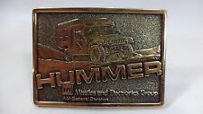 Vintage Military Hummer Am General Factory Division Solid Brass Belt Buckle Us