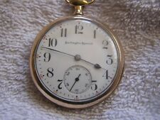 Antique  Burlington Special  Pocket Watch 19 Jewels Double Roller