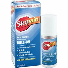 Stopain Extra Strength Pain Relief Roll-On 3 Ounce Mess Free and Easy