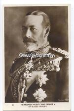 r1837 - King George V in Regal Uniform - postcard