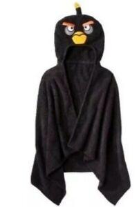 Kids Angry Birds Black Kids Hooded Towel Use for Bath Pool Beach New