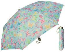 "42"" Butterfly Print Super Mini Rain Umbrella - RainStoppers Rain/Sun UV Fashion"