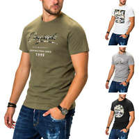 Jack & Jones Herren T-Shirt Print Shirt Kurzarmshirt Top Stretch Rundhals Shirt