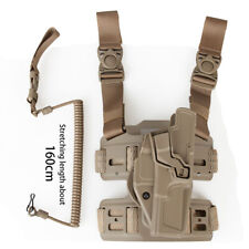 Leg Holster for GLOCK 17 Clip Holster 360 Degree Rotation with Tactical Sling