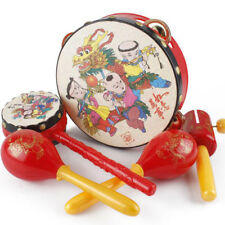 Chinese  Rattles Drums Percussion Hand Plastic Toys Set Kids Gifts Jian
