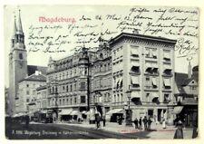 Magdeburg, Breiteweg mit Katharienenkirche - feines Haus, Geschäfte - gel. 1902