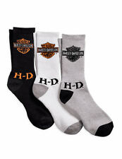 Genuine Harley Davidson® Men's 3-Pack Logo Socks 99403-16VM