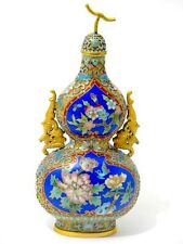 Chinese Cloisonne Vase in Kürbis Form China 20. Jahrhundert