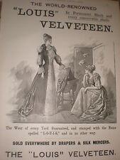 Louis Velveteen dress fabric A Hunt & co advert 1891 ref AZ