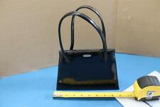Vintage Black Patent Leather Bag LENNOX BAGS HANDBAG CLUTCH PURSE SHINY