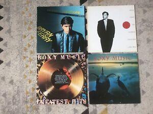 BRYAN FERRY,ROXY MUSIC LOT DE 4 LP VINYLS 33 TOURS