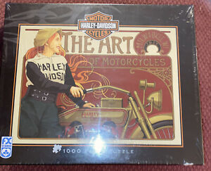 """FX Schmid Harley Davidson """"The Art Of Motorcycles 1000 Piece Jigsaw Puzzle"""