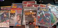 OVERSTREET Fan, Comics Source, Baby Boomer Collectables. MAGAZINE LOT: DC MARVEL