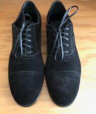 Dolce & Gabbana CA5771 Black Suede Cap Toe Men's Shoes UK6/EU40/US7