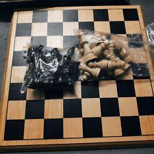 Schach aus Holz edel - Schachbrett Spiel und Schachfiguren aus Holz