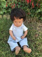 Baby Sasha Doll Clothes. Handmade Corduroy Dungarees And Gingham Top.