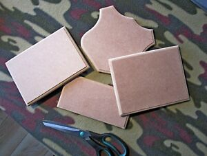 12 mm  Plain MDF RECTANGLE Plaque or SHIELD Sign Decoration ANY SIZE POSSIBLE