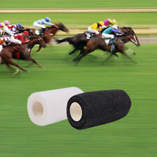 40  BANDAGES COHESIVE  HORSES PETS 10cmx4.5mt BLACK and WHITE