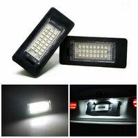 2 LED License Number Plate Light Fit for BMW E39 E60 E82 E70 E90 E92 6000k White