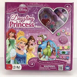 Disney Dazzling Princess Game Complete Jewelry Tiaras Rings Bracelet Dress Up
