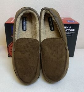 Weatherproof Mens Moccasin Slippers BRAND NEW- Brown-Size 11-12