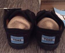 TOMS NWT NIB Paseo Black Baby Shoes Size 3