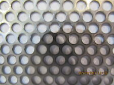 "3/16"" HOLES--18 GAUGE-304 STAINLESS STEEL PERFORATED SHEET  12' X 24"""