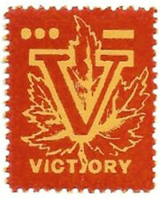 Canada WWII - V for Victory, red on yellow