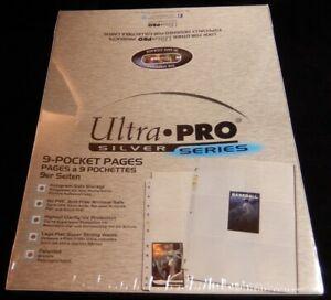 100 Ultra Pro Silver Series 9-POCKET-PAGES / Ordnerseiten für Magic Pokemon etc.