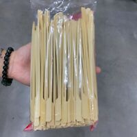50 Pcs Sticks BBQ Bamboo Wood Grill Skewers Natural Wooden Stick Barbecue Tools