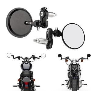 Folding Handle Bar End Rearview Side Mirrors For Honda Yamaha Suzuki GS550/750N