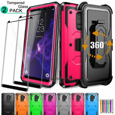 For SAMSUNG GALAXY S9/S9 Plus , Shockproof Phone Case Cover With Tempered Glass