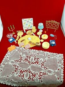 RARE !! Serie Milady Vintage Barbie Doll DISHES ACSSEORIES Furniture  Barbie