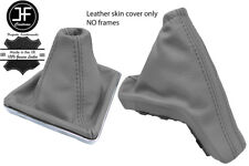 GREY TOP GRAIN REAL LEATHER GAITER SET FOR VAUXHALL OPEL ASTRA MK5 H 2004-2009