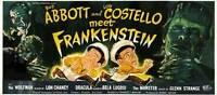 BUD ABBOTT LOU COSTELLO MEET FRANKENSTEIN Movie POSTER 14x36 Insert C Bud Abbott