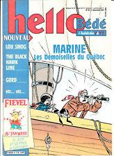 hebdomadaire Hello  bédé (tintin) n°49  3 décembre 1991 couverture Marine