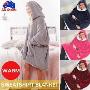 Blanket Hoodie Ultra Plush Giant Sweatshirt Comfy Huggle Fleece Warm With Hooded