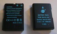 2 baterias EN-EL14+ (1600mAh) & USBCharger x Nikon D5600,5400,5300,5200,3400 etc