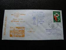 BELGIQUE - enveloppe 2/4/1975 (bruxelles/nice) (cy22) belgium