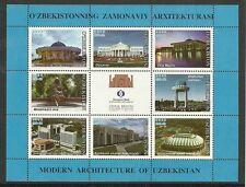 ARCHITEKTUR/ Usbekistan MiNr 373/80 ** Kleinbogen