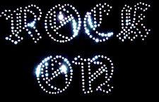 Rock En Hierro en transferencia Rhinestone claro cristal diamante diseño