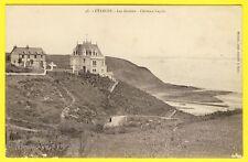cpa Dos 1900 Bretagne ÉTABLES sur MER (Côtes d'Armor) Les Grottes CHÂTEAU LEGRIS