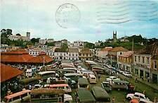 West Indies, Grenada, ST George's, Main Square & Market Place Chrome Postcard
