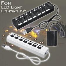 5V 7 Port USB 2.0 HUB Outlets Splitter Switch Batterie Box Für LEGO LED Licht