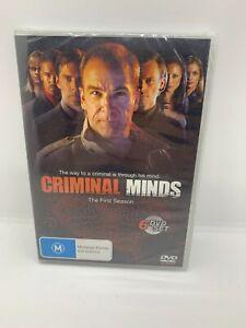CRIMINAL MINDS COMPLETE FIRST SEASON (6 X DVD BOXSET)DVD M R4 SEALED