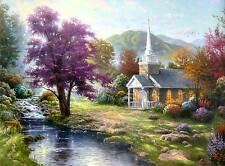 """Thomas Kinkade Streams of Living Water EPIC 30"""" x 40"""" SIZE S/N Canvas"""