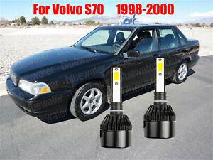 LED For Volvo S70 1998-2000 Headlight Kit H7 6000K White CREE Bulbs Low Beam