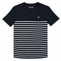 Boy/'s Lyle And Scott Junior Plain Tipped Polo Shirt in Blue